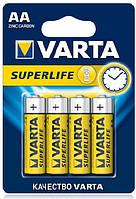 Батарейка VARTA SUPERLIFE AA *4шт (ZINC-CARBON)