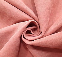 Шторная ткань розового цвета №213. Ткань для штор микровелюр. Однотонные шторы