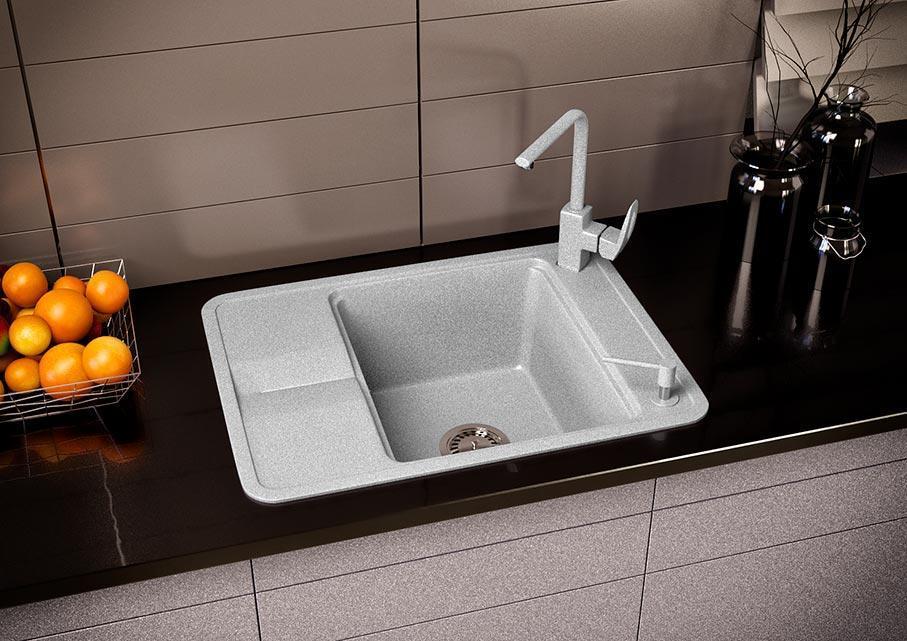Кухонна мийка VALENTINA Gr Quadro сірий