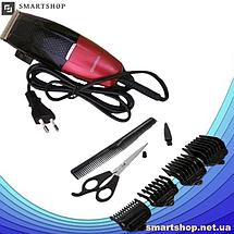 Профессиональная машинка для стрижки волос сетевая Gemei GM-807 9W 4 насадки, фото 3