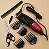 Профессиональная машинка для стрижки волос сетевая Gemei GM-807 9W 4 насадки, фото 4