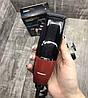 Профессиональная машинка для стрижки волос сетевая Gemei GM-807 9W 4 насадки, фото 6