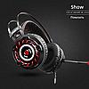 Комп'ютерні провідні ігрові навушники з микрофном, регулятором гучності і 3-я підсвічуваннями A6, фото 2
