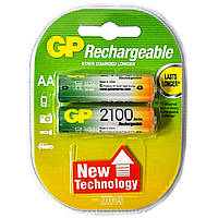 Аккумулятор GP R6/AA 2100 mAh (Блистер 2 батарейки)