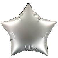 Фольгированный шар 18' Китай Звезда серебро сатин, 44 см