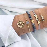 Набор женских браслетов