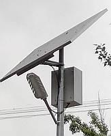30W світлодіодний автономний вуличний світильник SMD з сонячною батареєю 155W, фото 1