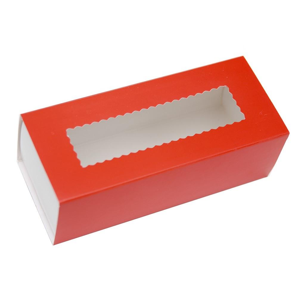 Коробки для макаронс красные (упаковка 3 шт.)