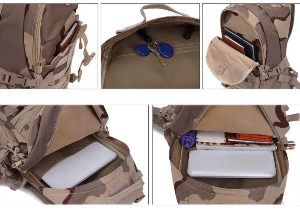 Рюкзак тактический городской Molle Assault A19 30 л, песочный