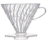 Пуровер Hario V60 01 прозрачный пластиковый для заваривания кофе на 1-2 чашки