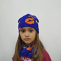 Шапка и хомут для девочки 3-6 лет
