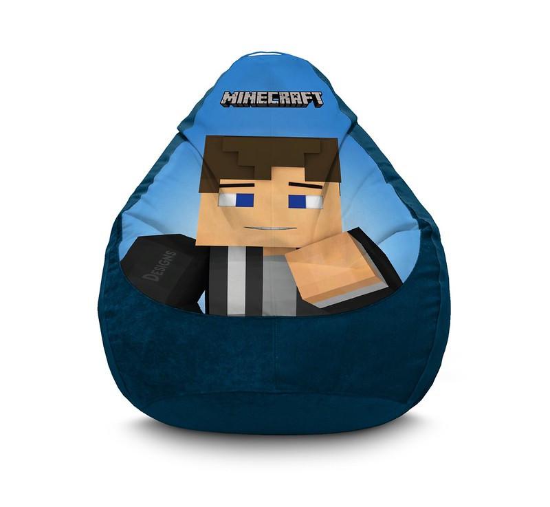 "Кресло мешок ""Minecraft. Steve"" Флок"