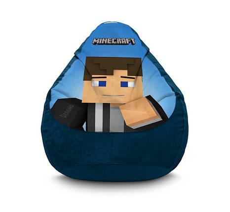 "Кресло мешок ""Minecraft. Steve"" Флок, фото 2"