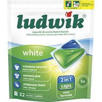 Ludwik 2in1 Caps гелевые капсулы для стирки White 32 шт