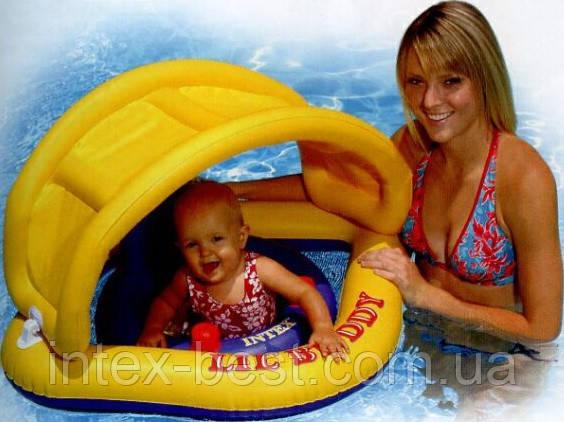 Детский надувной водный батут со съемным навесом «Buddy» Intex 56572