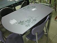 Стол стеклянный обеденный В 168-35-2, фото 1
