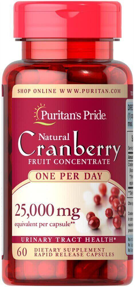 Puritan's Pride One A Day Cranberry, Клюква 25,000 mg (60 капс.)