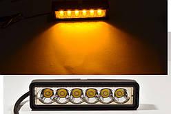 Светодиодная LED фара 30Вт  (светодиоды 5w x6шт) (Жовте світло)