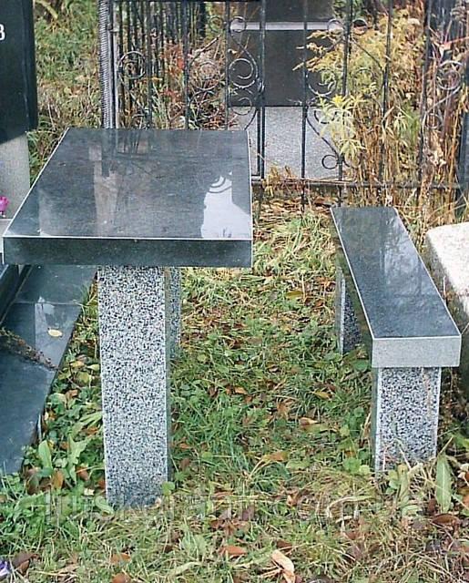 Столы и лавочки из натурального камня