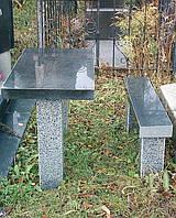Столы и  лавочки из природного камня