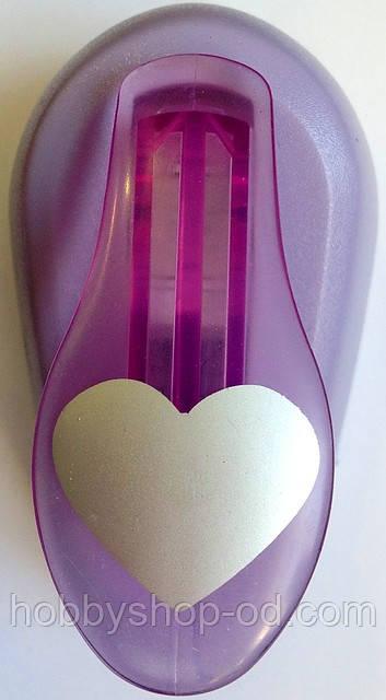 Дирокол фігурний Серце важіль 2,5 см