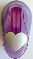 Дырокол фигурный Сердце рычаг 2,5 см