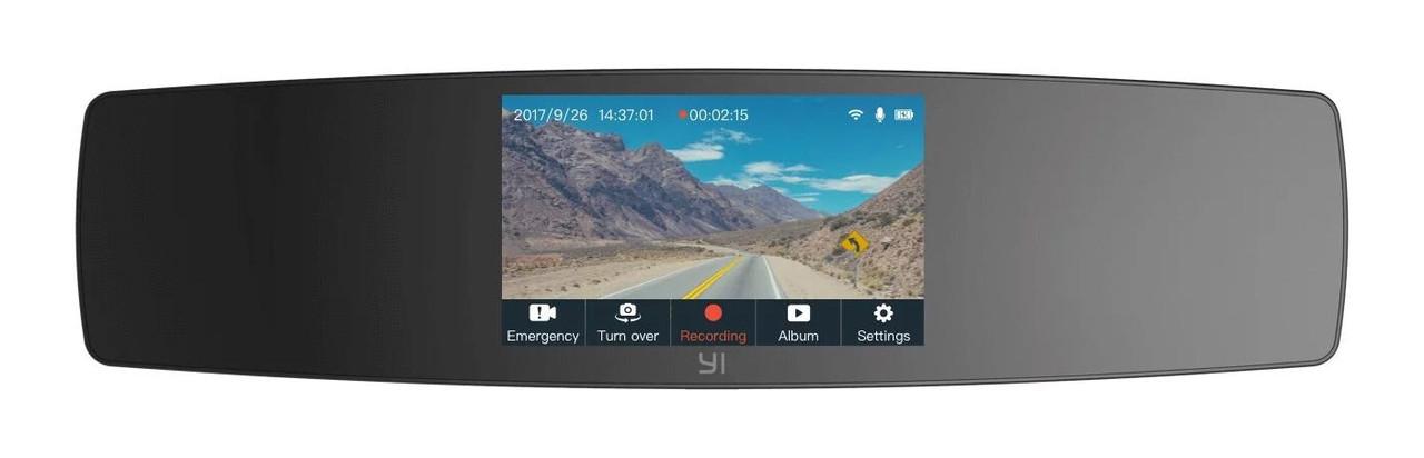 Видеорегистратор зеркало Xiaomi YI Mirror Dash Camera Черный (YCS.1C17)