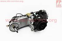 Двигатель скутерный в сборе 125куб (короткий вариатор, длинный вал)