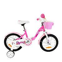 "Велосипед дитячий 12"" RoyalBaby Chipmunk MM Girls, OFFICIAL UA, рожевий"
