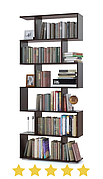 Стелаж для будинку колір Венге, має місткі полиці і просту конструкцію