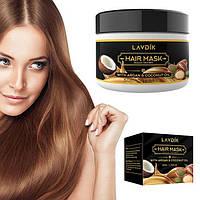 Увлажняющая, восстанавливающая маска для волос с кокосовым маслом и арганом LAVDIK HAIR MASK 50 гр