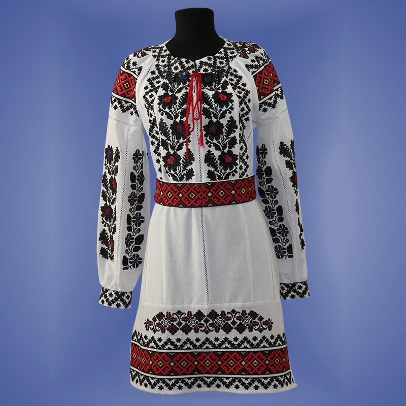 """Вышитое платье  """"Борщивка"""""""