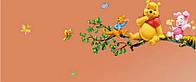 Наклейка виниловая Винни Пух на дереве 3D декор