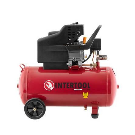 Компрессор 50 л, 1.5 кВт, 220 В, 8 атм, 206 л/мин. INTERTOOL PT-0003, фото 2