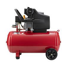 Компрессор 50 л, 1.5 кВт, 220 В, 8 атм, 206 л/мин. INTERTOOL PT-0003, фото 3