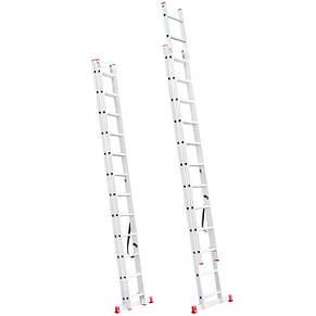 Лестница алюминиевая 2-х секционная универсальная раскладная INTERTOOL LT-0212, фото 2