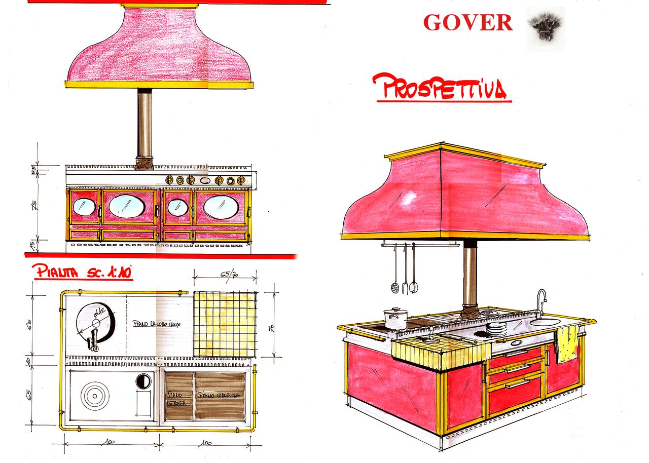 Кухонні центри вклассическом стилі Restart