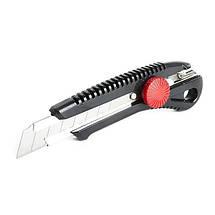 Нож с металлической направляющей под лезвие с винтовым фиксатором INTERTOOL HT-0502, фото 2