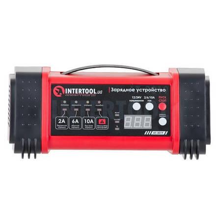 Зарядное устройство 12/24В, 2/6/10А, 2/6A, 230В, дисплей INTERTOOL AT-3019, фото 2