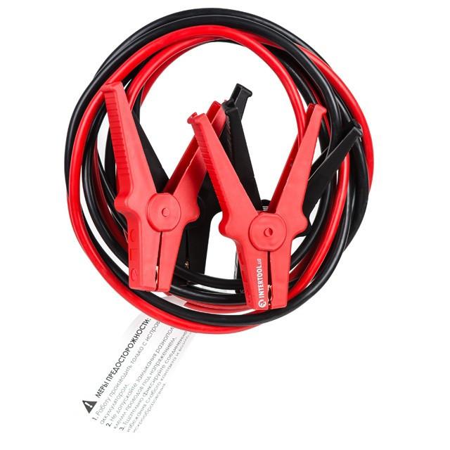 Пусковые провода 500А, 2.5м, до -40°C, чехол INTERTOOL AT-3045
