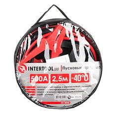 Пусковые провода 500А, 2.5м, до -40°C, чехол INTERTOOL AT-3045, фото 3