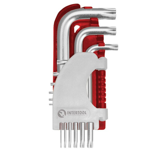 Набір Г-подібних ключів TORX, 9шт., Т10-Т50, S2, PROF INTERTOOL HT-1821