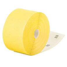 Шлифовальная шкурка на бумажной основе К80, 115мм*50м. INTERTOOL BT-0818, фото 2