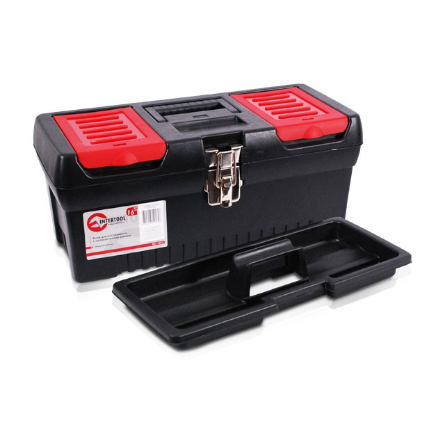 Ящик для инструментов с металлическими замками INTERTOOL BX-1016