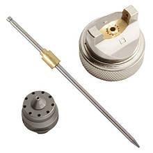 Комплект форсунки 1.4 мм для фарбопульта HVLP PT-0102 (дюза, повітряна головка, голка) INTERTOOL PT-2001