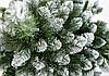 Ёлка искусственная с белыми кончиками 2 м Новогодняя сказка классика ПВХ   КАЗКА ЗЕЛЕНА З БІЛИМИ КІНЧИКАМИ, фото 2