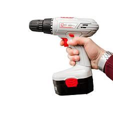 Дрель-шуруповерт аккумуляторная NiCd 18В, 1 аккумулятор, 1.2Ач, 0-10мм, 16Нм INTERTOOL DT-0312, фото 3