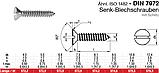 DIN 7972 (ISO 1482) : нержавеющий шуруп по металлу с потайной головкой, фото 3