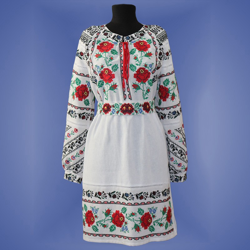 """Нежное платье с вышивкой  """"Магия"""""""