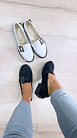 Женские туфли низкий ход классика с брошью натуральная кожа